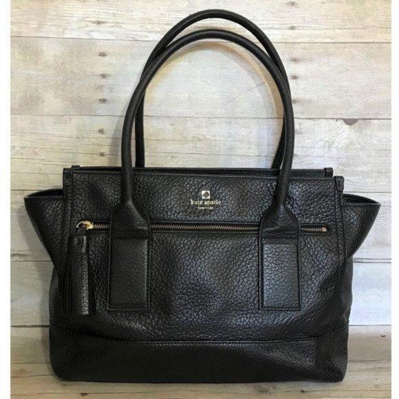 Kate Spade Alessa Black Leather Satchel Purse